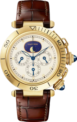Cartier Pasha Chronograph 18K Yellow Gold Limited Edition 38mm Men's Watch WGPA0022