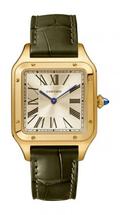 Cartier Santos 18K Yellow Gold Large Model Limited Edition Watch WGSA0027