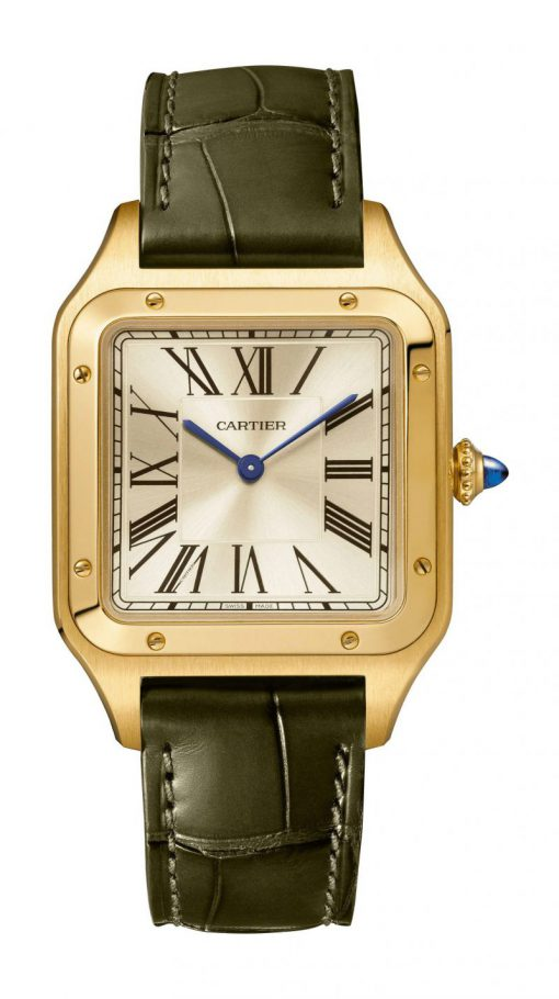 Cartier Santos 18K Yellow Gold Large Model Limited Edition Watch, WGSA0027