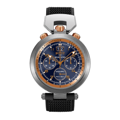 Bovet Sportster Saguaro Chronograph Stainless Steel & 18K Rose Gold Watch Preowned-SP0437-R5N