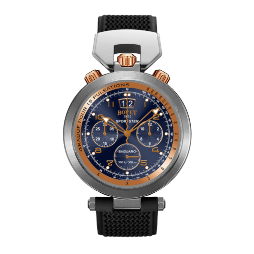Bovet Sportster Saguaro Chronograph Stainless Steel & 18K Rose Gold Watch, Preowned-SP0437-R5N