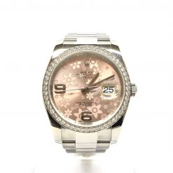 Rolex Oyster Perpetual Datejust Stainless Steel & Diamonds Lady's Watch Preowned-116244