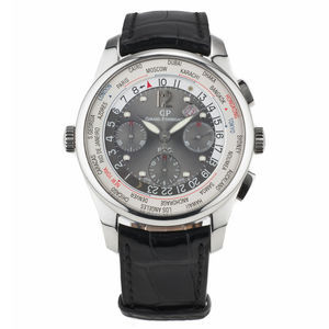 Girard-Perregaux WW.TC Chronograph Financial Stainless Steel Men's Watch, Preowned-49805-11-254-BA6A