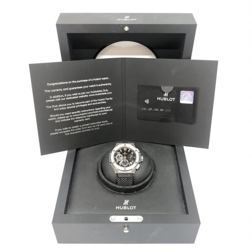 Hublot Big Bang Stainless Steel Rubber Diamonds Automatic Men's Watch, Preowned-341.SX.130.RX.114 5