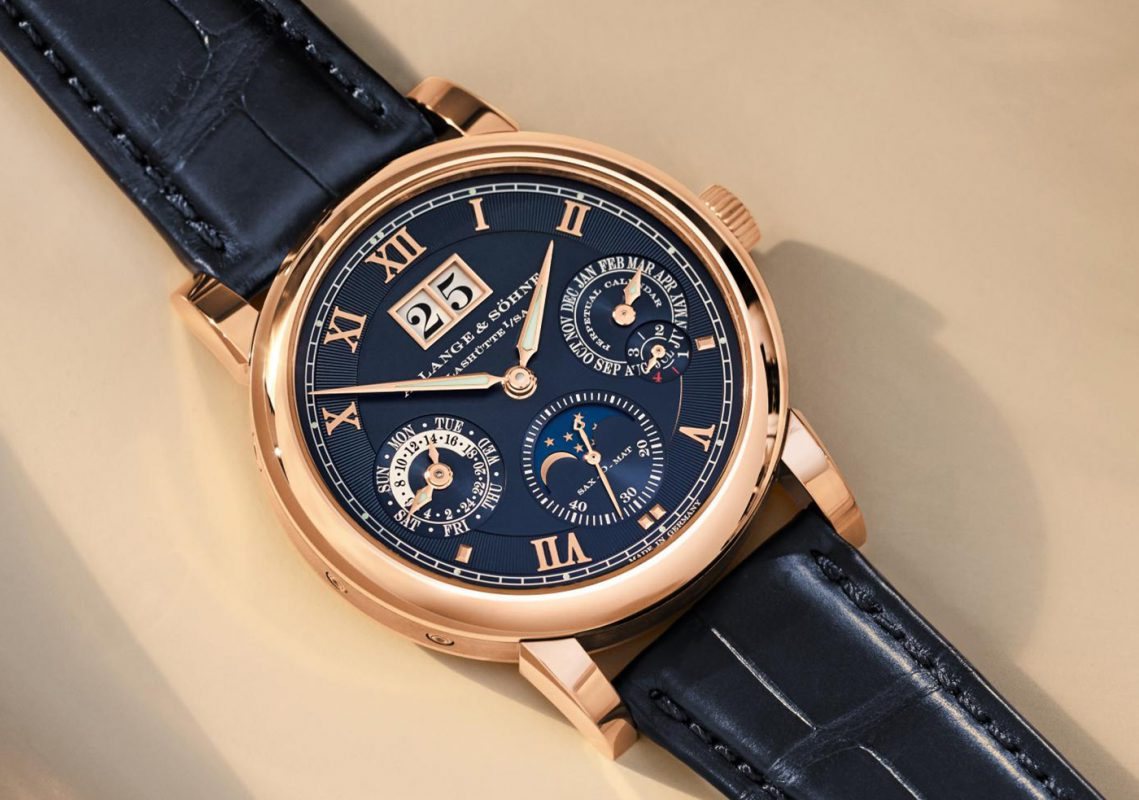 A. Lange & Sohne Langematik Perpetual Limited-Edition Blue Watches