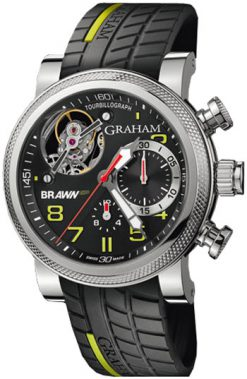 Graham Tourbillograph Trackmaster Limited Edition Stainless Steel Men`s Watch Preowned-2BRTS.B03A.K68S