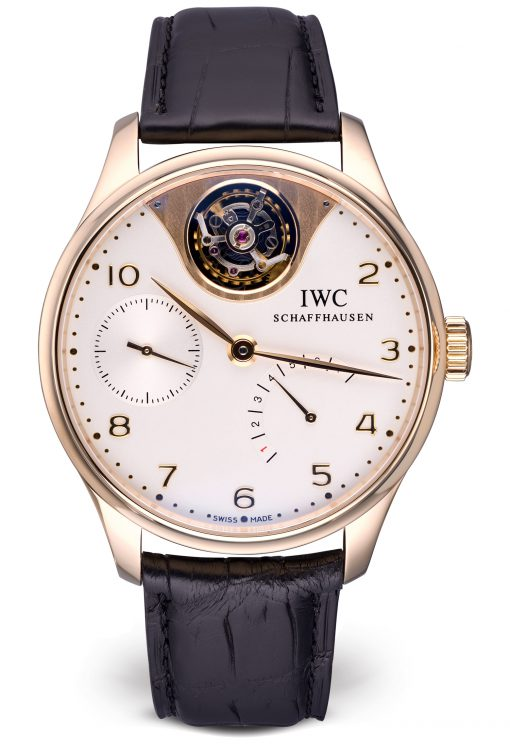 IWC Portuguese Tourbillon Mystère Limited Edition 18K Rose Gold Men's Watch, Preowned-IW504202