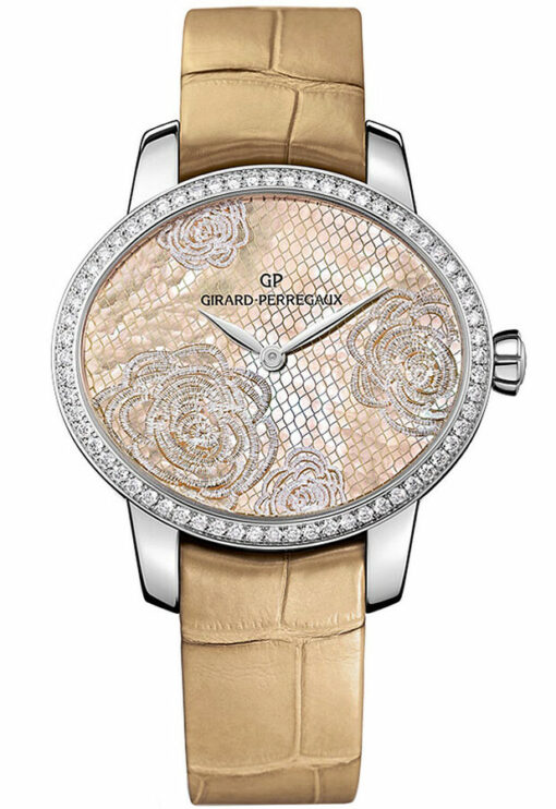 Girard Perregaux Cats Eye Stainless Steel & Diamonds Ladies Watch, Preowned-80476D11A801-CK8A