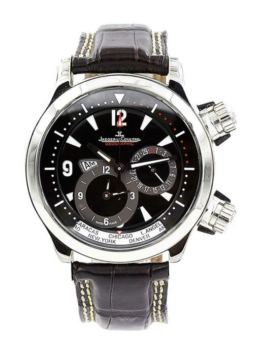 Jaeger-LeCoultre Master Compressor Geographic Stainless Steel Men's Watch, Preowned-146.8.83