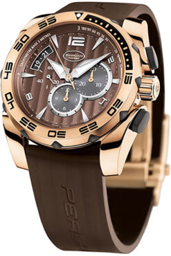 Parmigiani Fleurier Pershing Chronograph 18K Rose Gold Men's Watch preowned-PF 600103.06