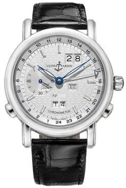 Ulysse Nardin Classical GMT Perpetual Platinum Limited Edition of 500 Men's Watch Preowned-329-80