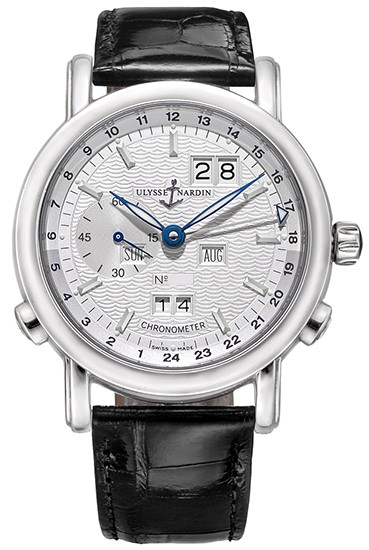Ulysse Nardin Classical GMT Perpetual Platinum Limited Edition of 500 Men's Watch, Preowned-329-80