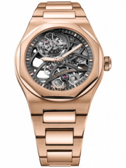 Girard Perregaux Laureato Flying Tourbillon 18K Rose Gold Mens Watch Preowned-99110-52-000-52A