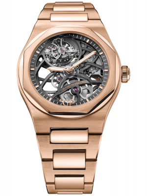 Girard Perregaux Laureato Flying Tourbillon 18K Rose Gold Mens Watch, Preowned-99110-52-000-52A