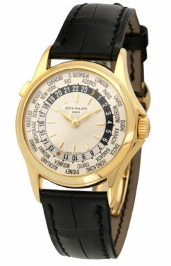 Patek Philippe Complications World Time 18K Yellow Gold Men's watch Preowned. 5110J-001