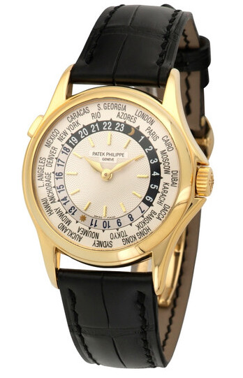 Patek Philippe Complications World Time 18K Yellow Gold Men's watch, Preowned. 5110J-001