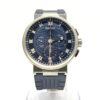 Breguet Marine 5517 Chronograph 18K White Gold Men's Watch, Preowned-5527BB/Y2/5WV 1