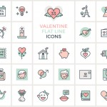 Valentines Day Flat Icons