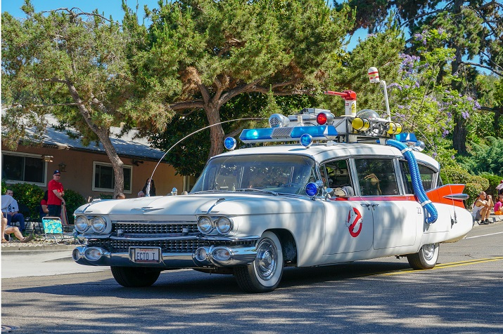 Ghostbusters car at 4th July Independence Day Parade