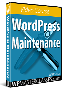 WordPress Maintenance - WPMasterclasses.com