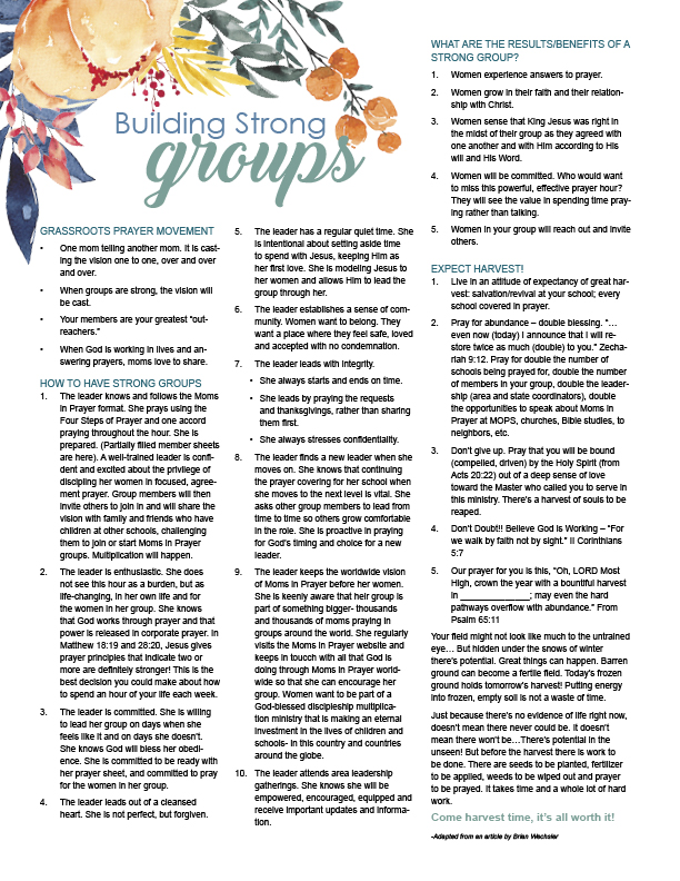 photo about Moms in Prayer Prayer Sheets identify Effectively Prepared Prayer Preview