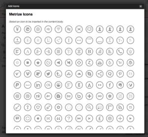 metrize icons wordpress plugin