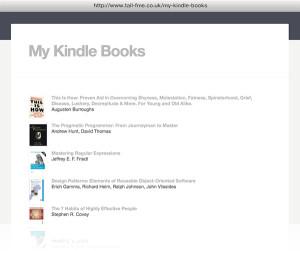kindle reading list plugin