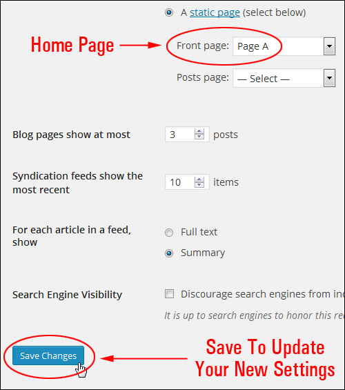 How To Display Any Page You Select As Your Home Page In WordPress