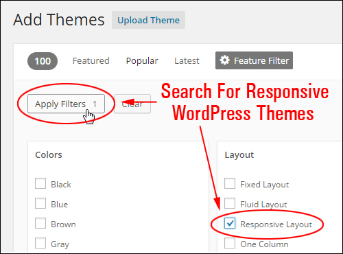 Search for Responsive WordPress Themes