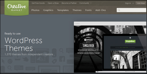 Best Free and Premium WordPress Themes from Creative Market