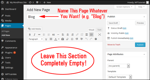 How To Create A Blog Section In WordPress
