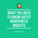 What You Need To Know About WordPress Widgets