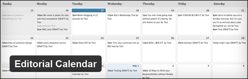 Editorial Calendar - WordPress Plugin
