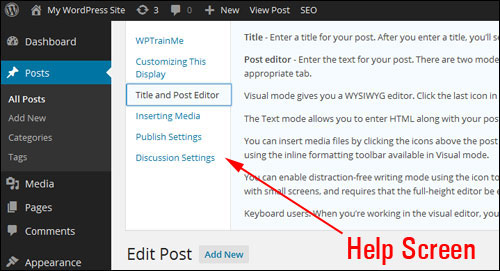 The WP Administration Screen - A Step-By-Step Tutorial