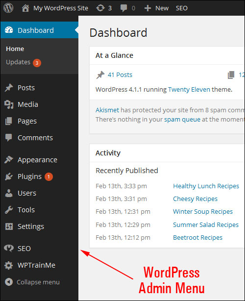 How To Use The WP Dashboard