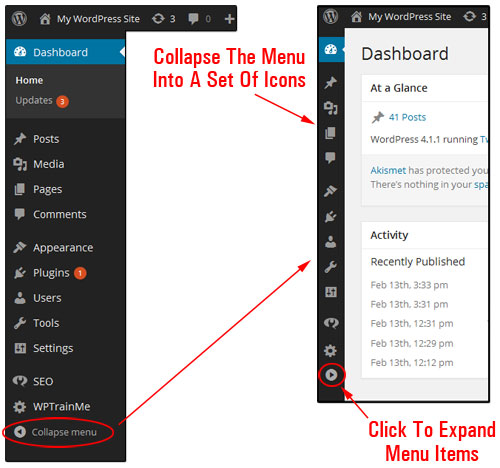 Your WP Dashboard Explained