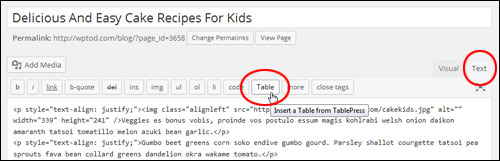 How To Create And Add Tables In WordPress
