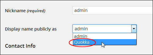 Changing Your WP User Name From Admin To A Different User Name