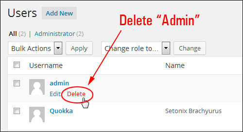 How To Change Your WP Username From Admin To A More Secure User Name