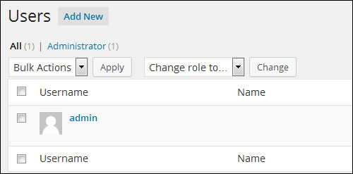 How To Change Your WP User Name From Admin To A More Secure Username