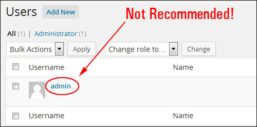 Changing Your Admin User Name In WordPress To A More Secure Username