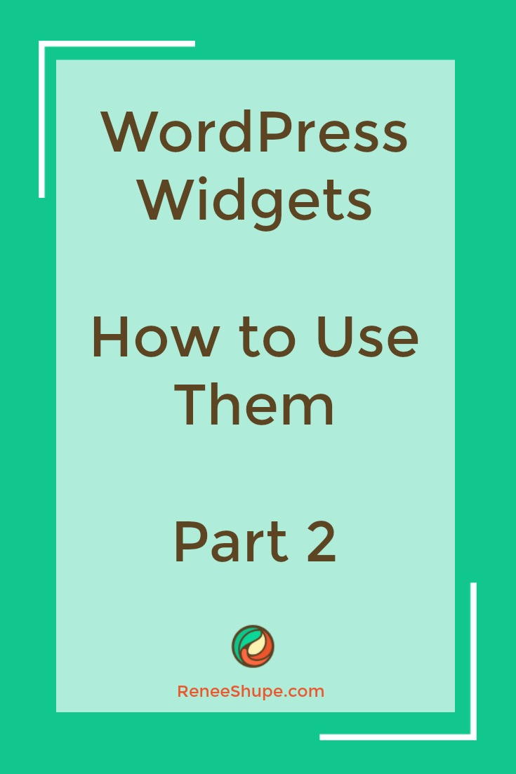 How To Add And Configure WordPress Widgets - Part 2