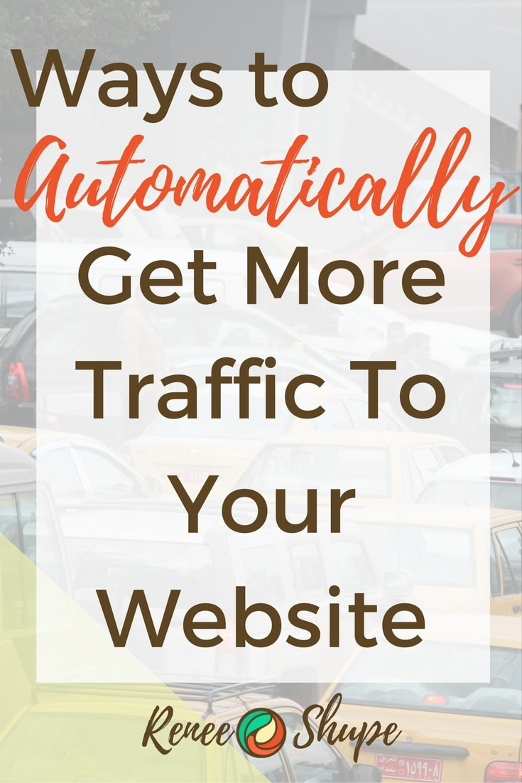 Website Traffic got you down?  Discover some ways to get website traffic automatically!