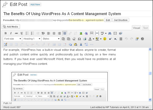 The Benefits Of Using WordPress As A Content Management System
