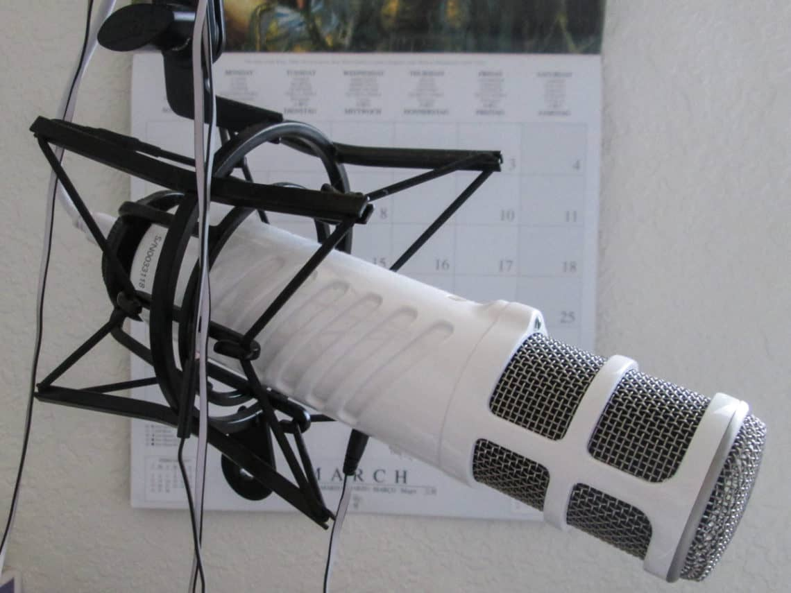 Sallie's Rode Podcaster microphone