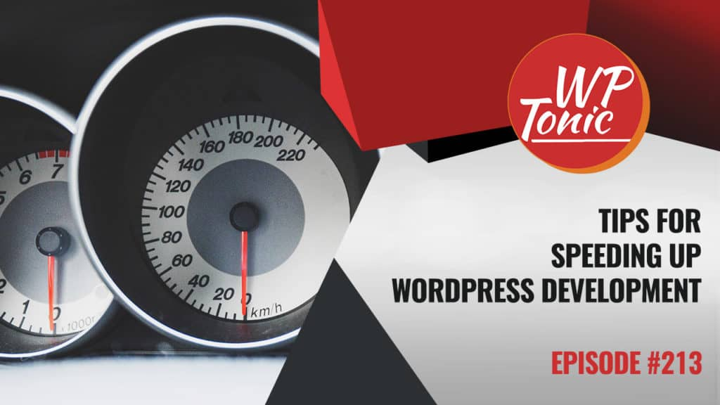 Speeding Up Your WordPress Development