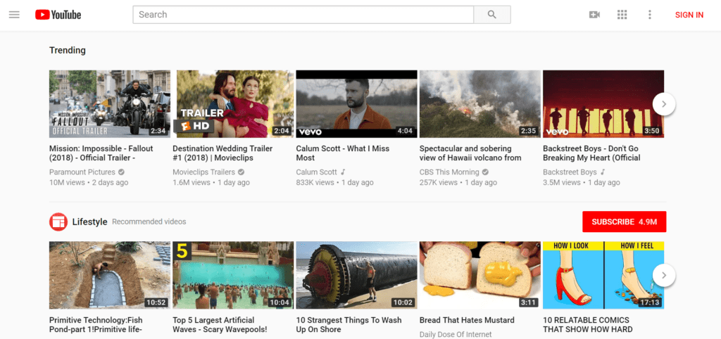 YouTube - Best Video Hosting Sites for Course Creators (in 2018)