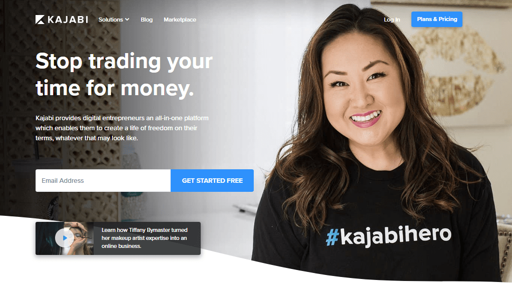 Kajabi Online Course Platform Homepage