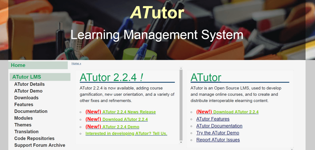 ATutor is an open-source, web-based LMS