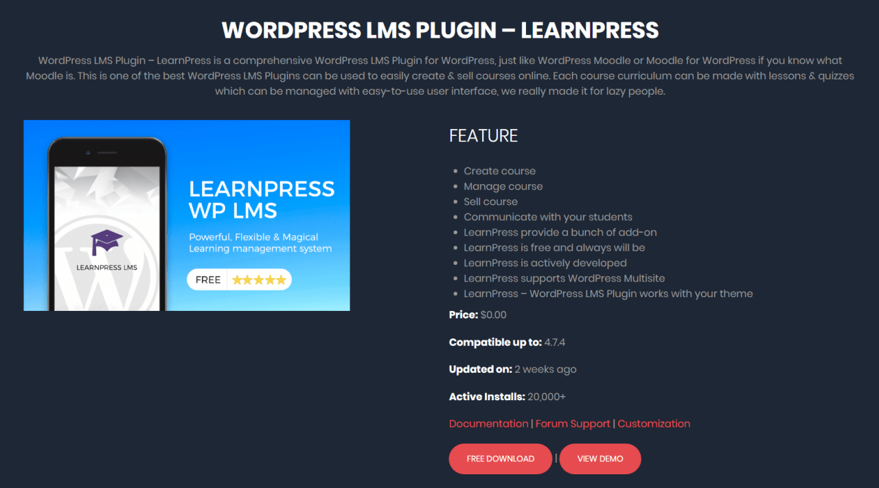 LearnPress is like Moodle for WordPress. Higher education